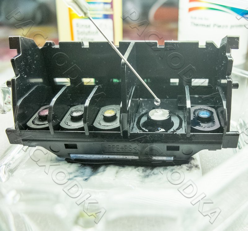 Промывка печатающей головки Canon и HP (Hewlett-Packard)
