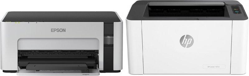Лазерный или струйный принтер для монохромной (ч/б печати)