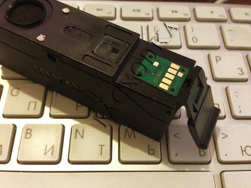 Установка чипа на оригинальный картридж Canon