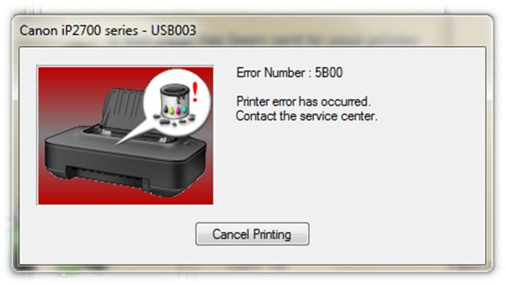 Canon E404, MG2440, MG2540 ошибка «Код поддержки 5B00»
